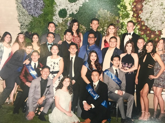 Picture of ASB students and staff